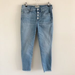 "Madewell 9"" High-Rise Skinny Crop Jeans Button Fly"